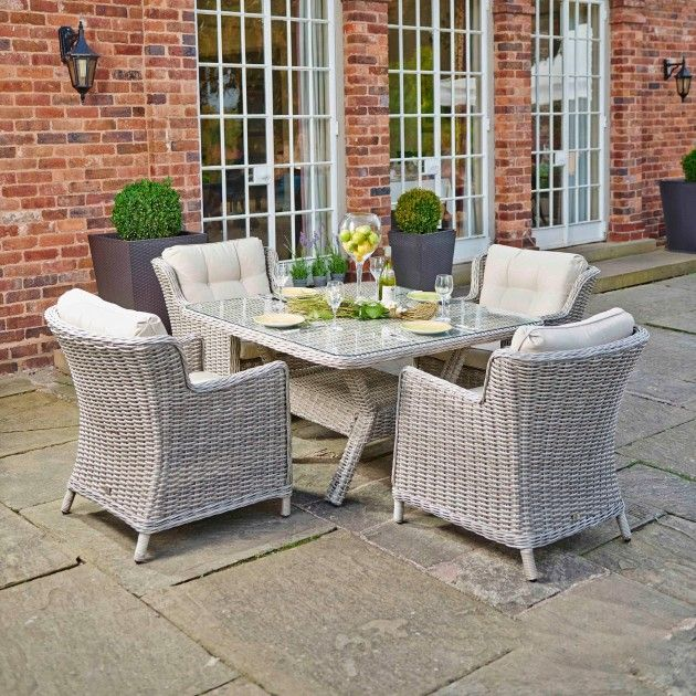 Eton Square Dining Table and 4 x Lounge Chairs