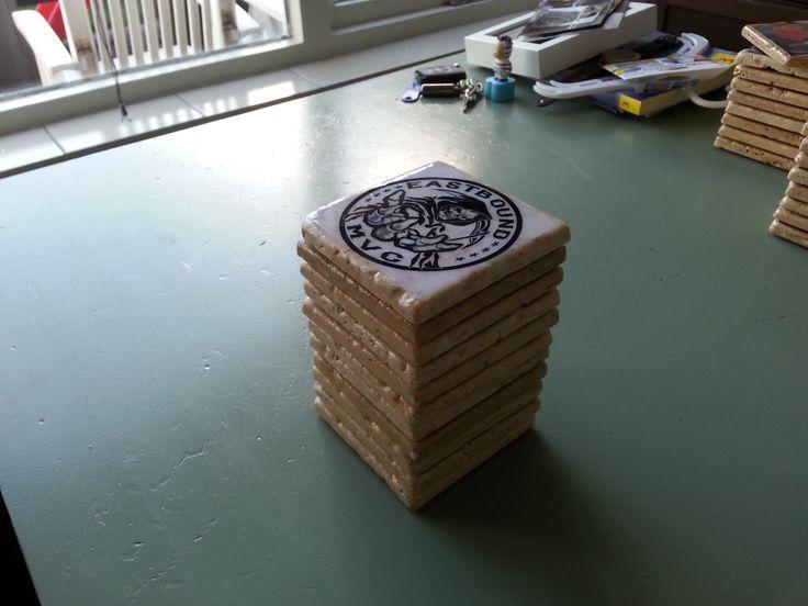 stone coasters sealed with epoxy