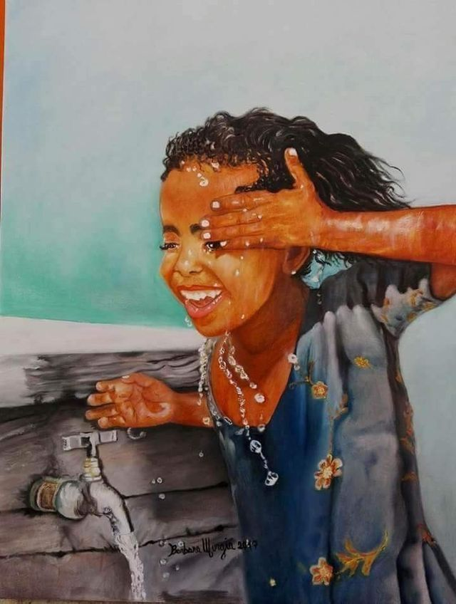 The girl in this painting  looks  like my niece beautiful art.