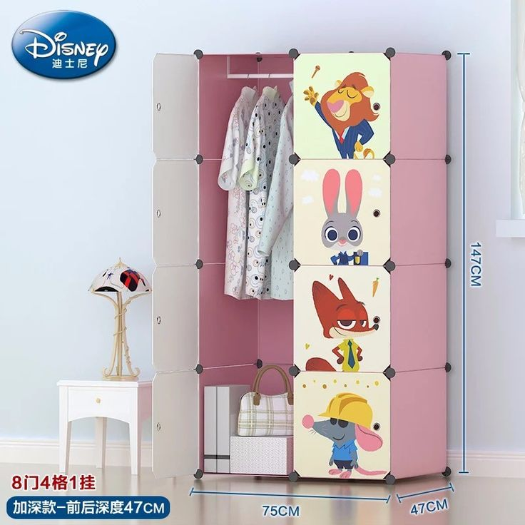 children cartoon kids bedroom wardrobe design