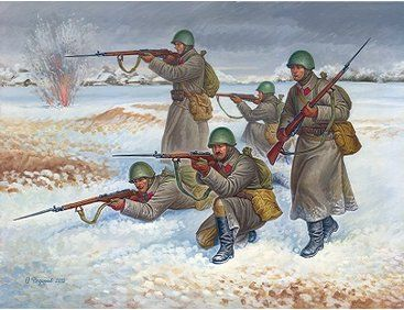 The Zvezda Soviet Infantry Winter Uniform in 1/72 scale from the Zvezda plastic figure model kits range accurately recreates the real life Russian soldiers from World War II.  This model requires paint and glue to complete.
