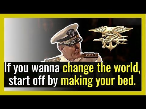 INSPIRATIONAL and MOTIVATIONAL Speech From US Navy Admiral William H. McRaven!— Admiral William H. McRaven Starts His Motivational Speech.