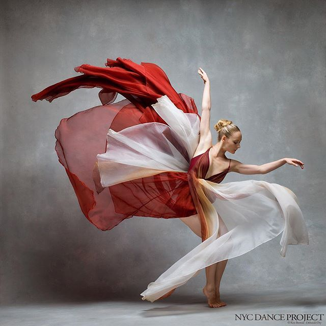 """""""I wish people would dance for the world, for the audience, for the partners before themselves. Of course, you're training your body everyday, your technique, the length of your gaze, your energy throughout your toes and fingers, the flexibility of your entire body, but who are you really dancing for?"""" - Charlotte Landreau, Martha Graham Dance Company Stay tuned for an exclusive interview and more photos with Charlotte at www.nycdanceproject.com Dress by @leannemarshallofficial…"""