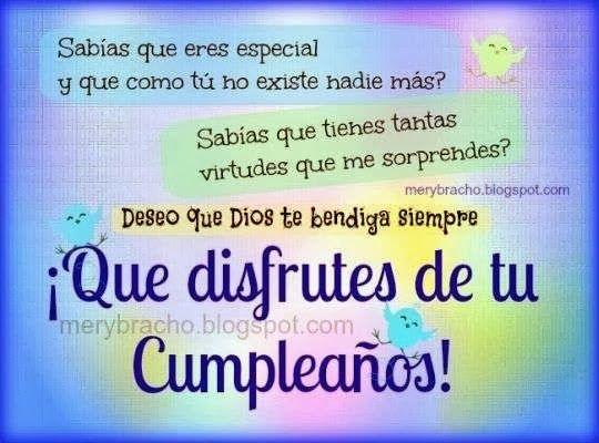 Mensajes cristianas de cumpleaños para tarjetas