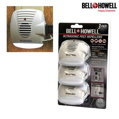 I found this amazing Set of 3: Bell & Howell Ultrasonic Pest Repellers with Lights at nomorerack.com for 55% off. Sign up now and receive 10 dollars off your first purchase
