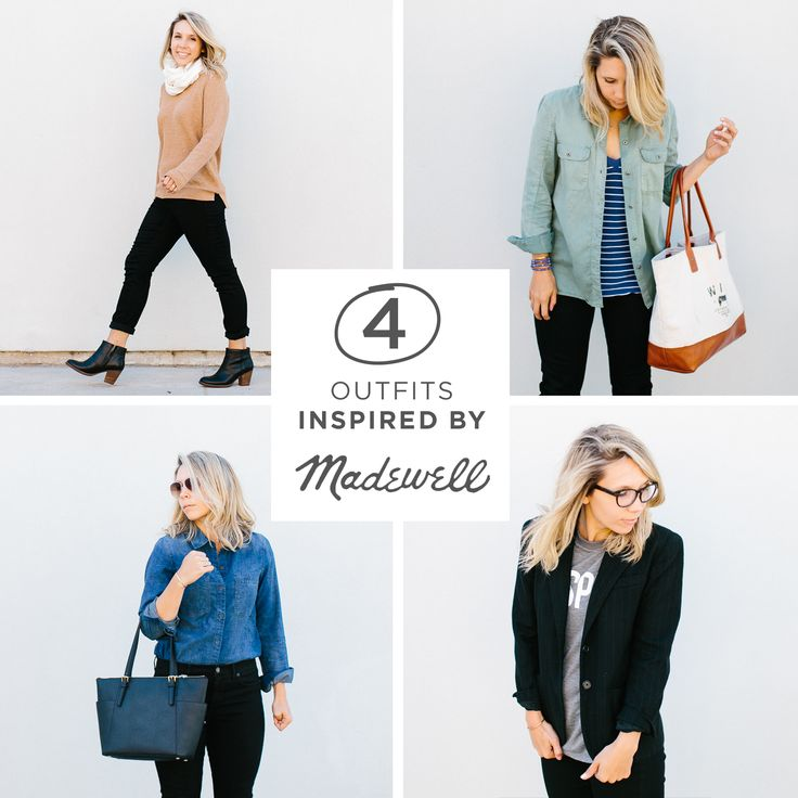 4 Looks all inspired by the #denimmadewell collection on The Fresh Exchange Blog by Megan Gilger.