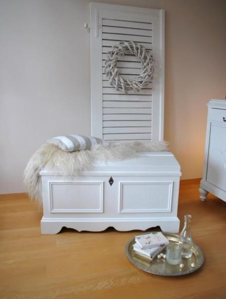 ♥ weiße truhe im cottage style ♥