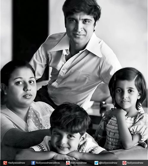 Javed Akhtar with his family.