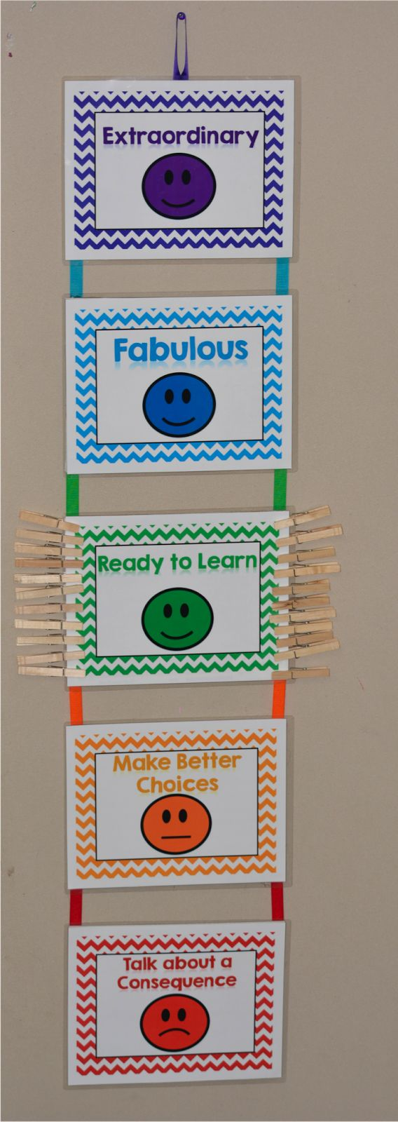 Education to the Core: Classroom Reveal: Black and White with Pops of Color!  FREE Behavior Chart Posters!