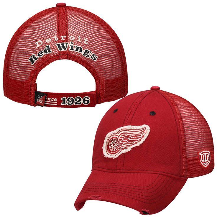 Mens Detroit Red Wings Old Time Hockey Red Sanford Adjustable Hat