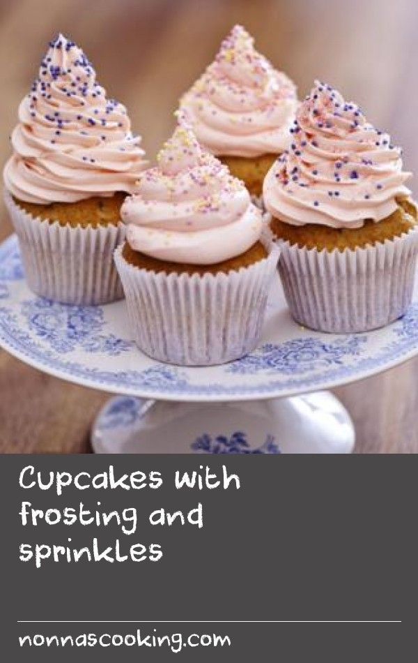 Cupcakes with frosting and sprinkles |      Follow our step-by-step cupcake recipe video. Dan Lepard shows how to make basic cupcakes with a swirl of buttercream.