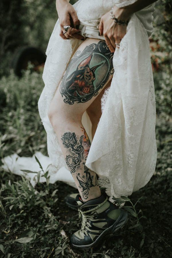 Tattoo'd bride | Image by Sttilo Photography