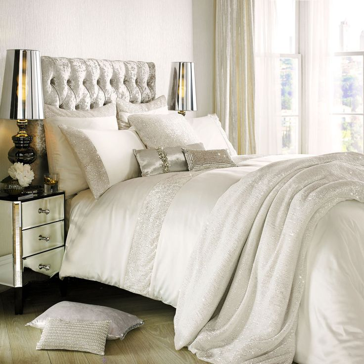 Astor Oyster Bed Linen by Kylie Minogue at Home... Free Shipping + 10% off RRP #KylieMinogueAtHome