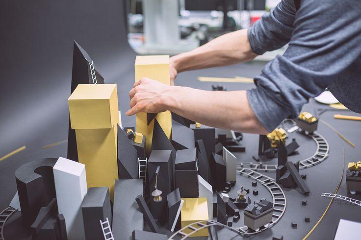 Goldmine Paper Craft Sculpture by INK Studio