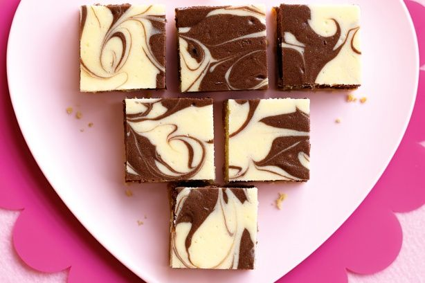 Creamy chocolate cheesecake slices that everyone will love - your challenge is not to devour them all at once!