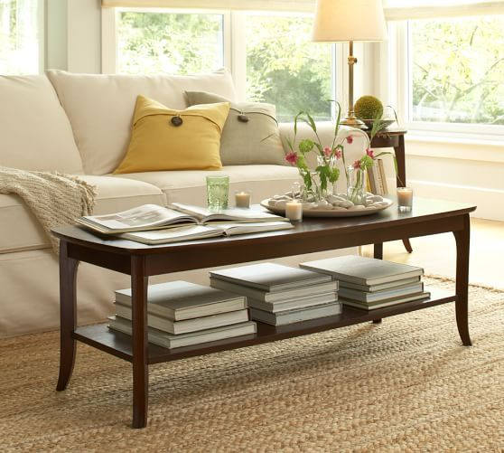 Chloe Rectangular Coffee Table Pottery Barn Living Rooms Pinterest Barn Mahogany Stain