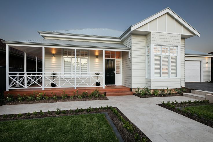 My new house! My design inspiration was an Edwardian weatherboard meets…