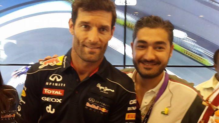With Mark Webber (F1 Infiniti Red Bull Racing Team)