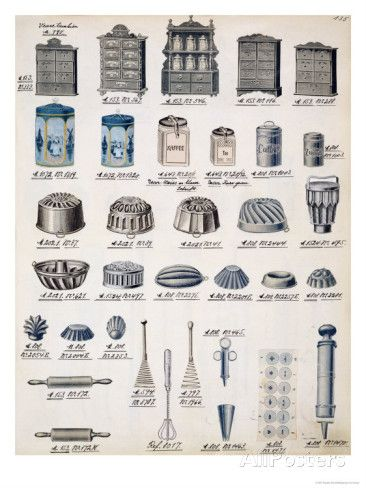 Kitchen Storage And Utensils From A Trade Catalogue Of Domestic Goods And Fittings, Circa 1890 photo - 1