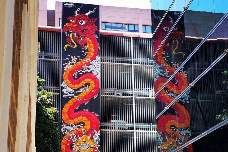 Waymouth St. Artist: Fredrock (Fred Roldan). 72 Waymouth St, Adelaide. Photo: Andrew Neale. #IAJOT