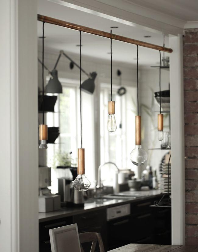 Make this: copper light pendant @my casa: BESKRIVNING...DIY KOPPARARMATUR