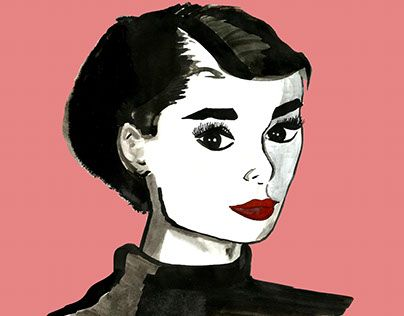"""Check out new work on my @Behance portfolio: """"Audrey"""" http://be.net/gallery/58450387/Audrey"""