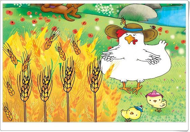 """""""La gallina y los granos de trigo"""" (Cuento audiovisual de Educación Infantil)"""
