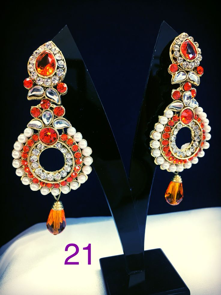 Orange Jaskaran with pearls