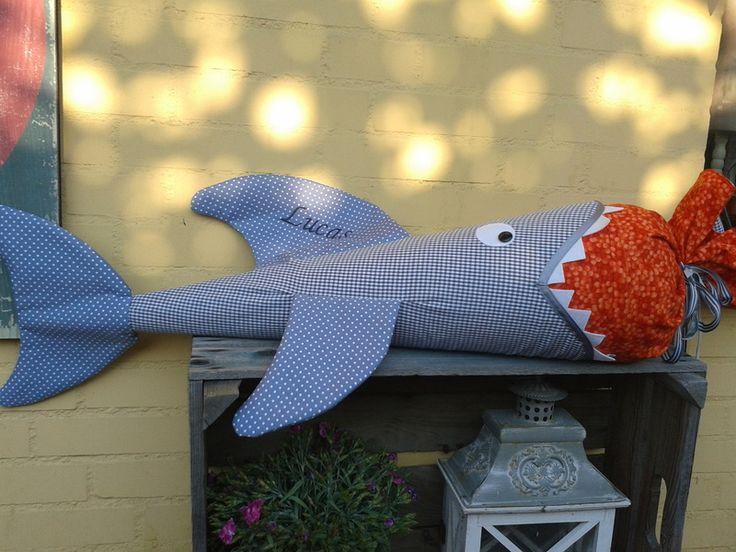Schultüten - Schultüte ♥ Hai ♥ Zuckertüte ♥ Schulanfang - ein Designerstück von Krabbelkaefer bei DaWanda
