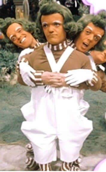 Oompa Loompas for you, dibbety doo.