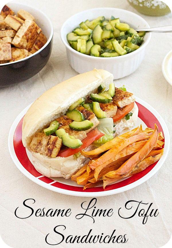 sesame lime tofu sandwiches