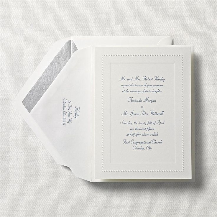 sample wedding invitation letter for uk visa%0A Dressed in Pearls Wedding Invitation Crane