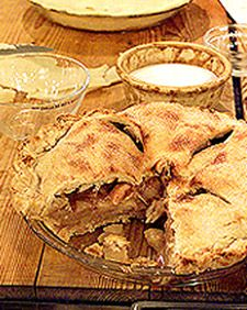Double crust apple pie. Martha stewart
