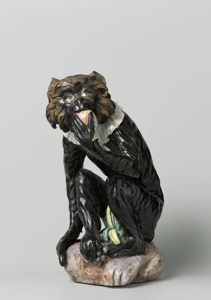 Monkey, Meissener Porzellan Manufaktur, Johann Gottlieb Kirchner, c. 1731 - c. 1733