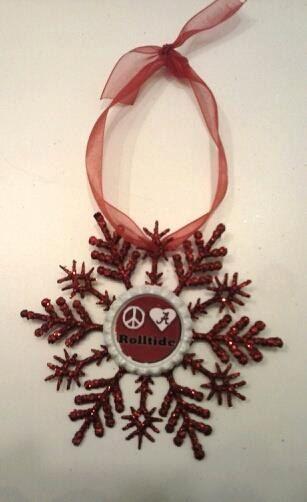 Alabama Christmas Ornament , Roll Tide Christmas , Bama Christmas , Alabama Decor by CCSBOWTIQUE2010 on Etsy