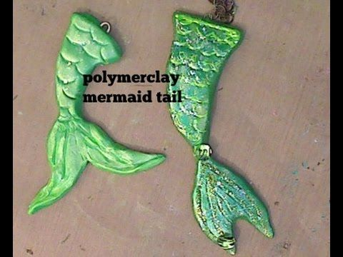 How to make a Polymer clay Mermaid tail
