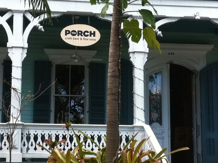 The Porch, Key West, this was our favorite for wine, served in a real glass, no plastic!!!!
