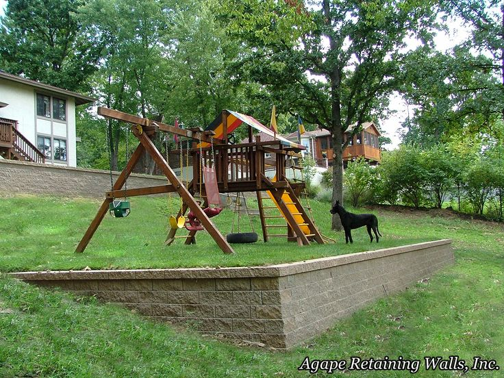 Another way to level the slope in the backyard.