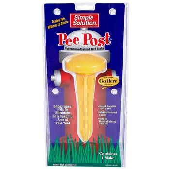 Pee Post Pheromone -Treated Potty Training Yard Stake-Outdoor Dog Gear
