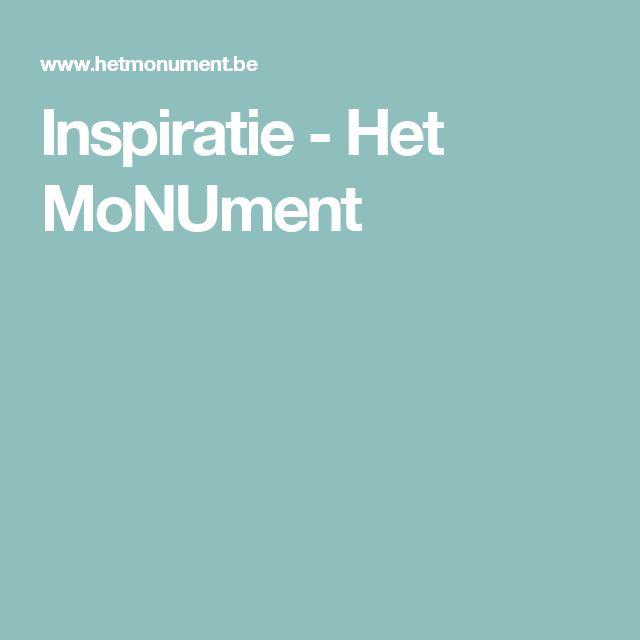 Inspiratie - Het MoNUment