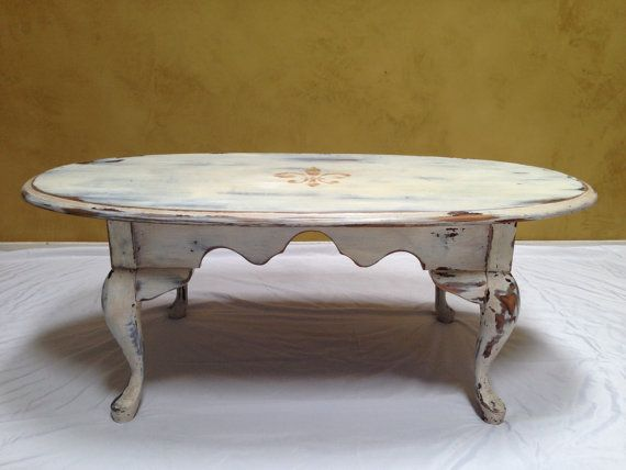 Vintage Queen Anne Coffee Table Refinished Rustic Vintage ...