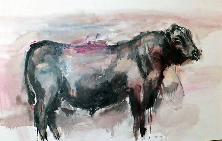 Fridge at sunset by James Kearns.  'The Cycle of Life' by James Kearns | Juxtaposed subjects of animals and humans, along with conflicting themes of light and dark, masculine and feminine, failure and hope, in addition to... http://goo.gl/bkAGc4  #art #australianart #jameskearns #chg