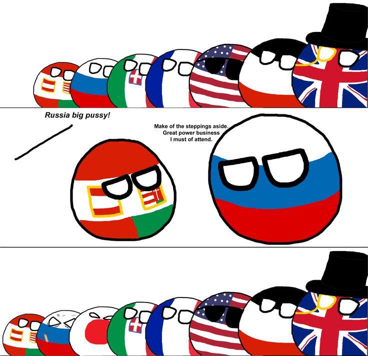 The Russo-Japanese War ( Austria-Hungary,  Russia, Japan, Italy, France, USA, Germany, UK ) by koleye  #polandball #countryball