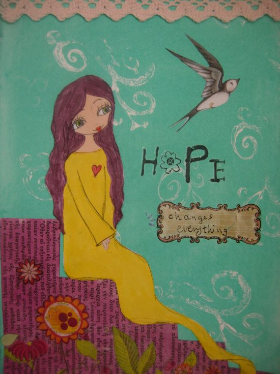 Hope Changes Everything  art print/reproduction of the by eltsamp, $20.00