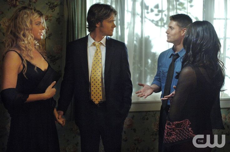 """What Is and What Should Never Be"" --(-L-R) Jared Padalecki as Sam,  Adrianne Palicki as Jessica Moore, Jensen Ackles as Dean and Michelle Borth as Carmen star in SUPERNATURAL on The CW. Photo: Sergei Bachlakov / The CW �2007 The CW Network, LLC. All Rights Reserved.pn"