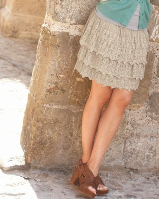 Lace Tiered Skirt - Garnet Hill.  I have this and I can't wait until it gets warm enough to wear it!