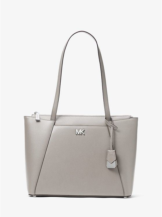 9033d5ab6f42 MICHAEL Michael Kors Pearl Grey Maddie Medium Leather Tote | PURSE ...