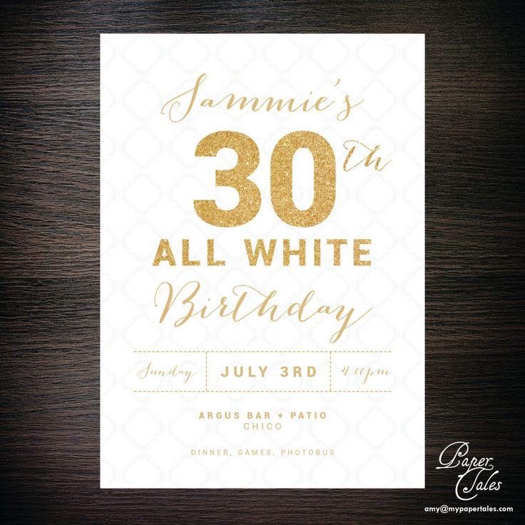 die besten 25+ einladungskarten 30. geburtstag ideen auf pinterest, Einladung