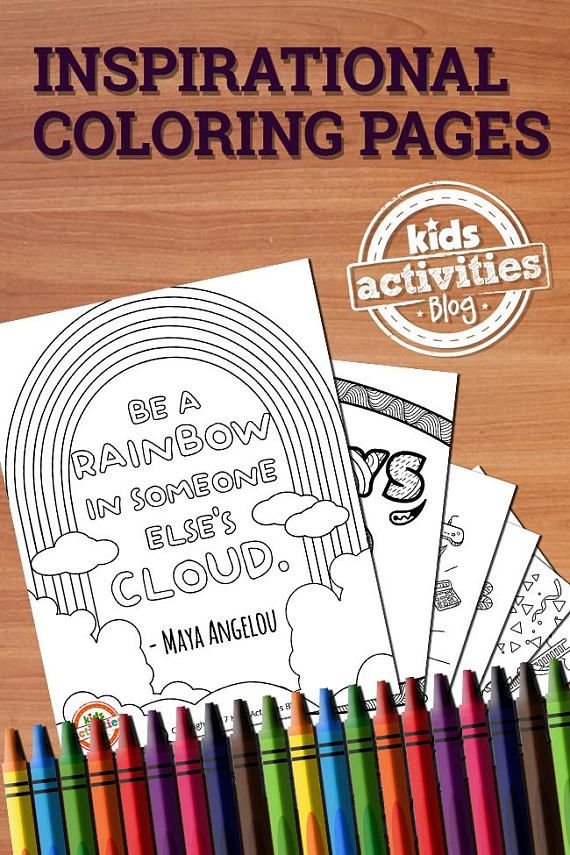 Printable Coloring Pages Just Got Kinder These Printables For Kids And Adults Are Filled With