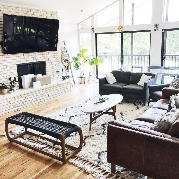 @melodyellie's living room is a black + white dream come true  Shop the whole look with link in bio. Thanks for sharing, @melodyellie + @westelmdallas! #mywestelm #homedesign